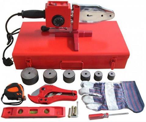 Аппарат для сварки пластиковых труб ELITECH СПТ 1500 220В 1.5кВт 50-300°С насадки 20-63мм кейс+АКС