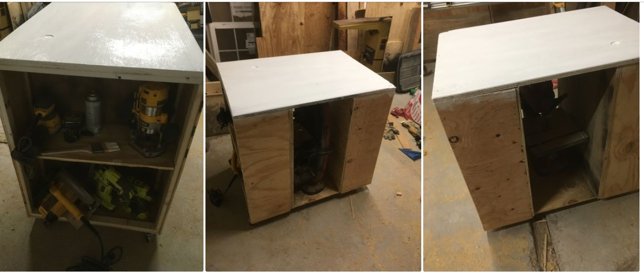 Столярный стол-шкаф