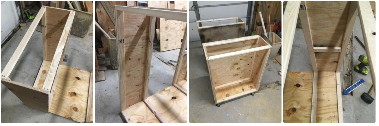 Делаем столярный стол-шкаф | 2