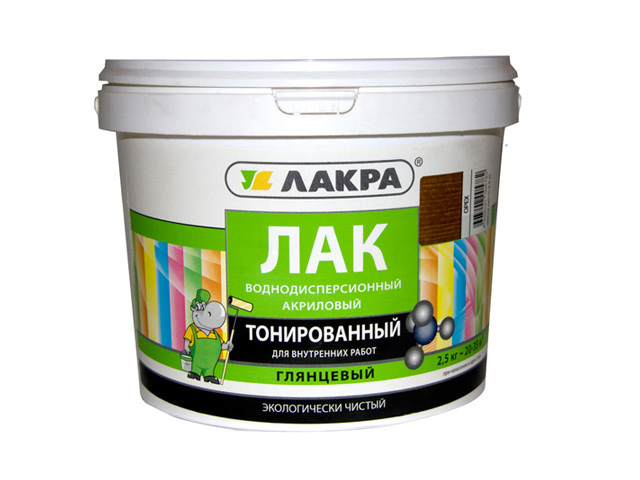 лак акриловый ЛАКРА 2,5кг сосна