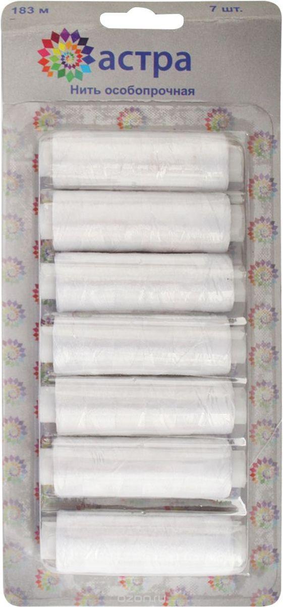 """Нить филаментная """"Астра"""", цвет: белый (9021), 100D/3, 182,9 м, 7 шт"""