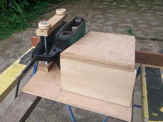 Ленточный шлифовальный станок для верстака своими руками - 6