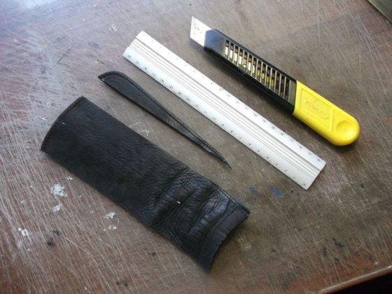Делаем новую обмотку рукояти для старого ножа - 9