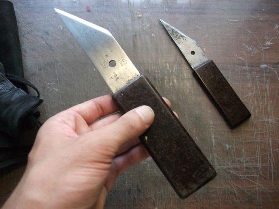 Делаем новую обмотку рукояти для старого ножа - 1