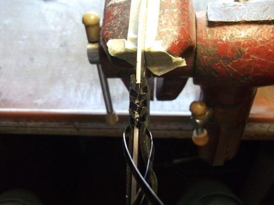 Делаем новую обмотку рукояти для старого ножа - 25