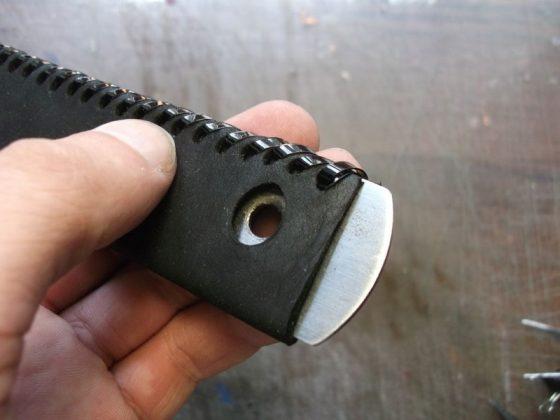 Делаем новую обмотку рукояти для старого ножа - 27