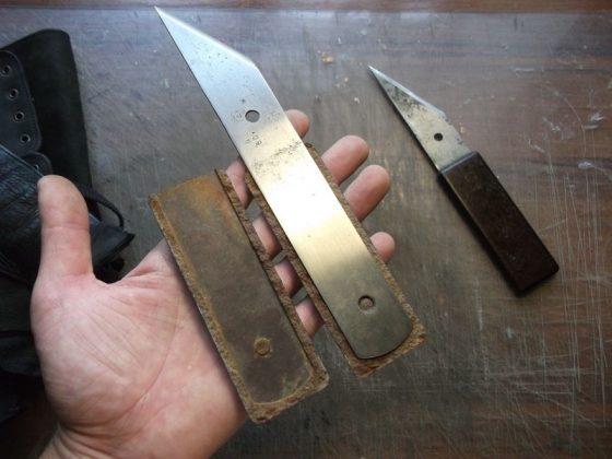 Делаем новую обмотку рукояти для старого ножа - 2