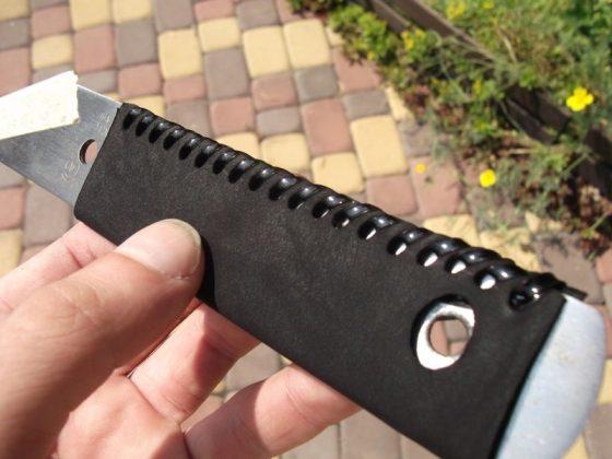 Делаем новую обмотку рукояти для старого ножа - 32