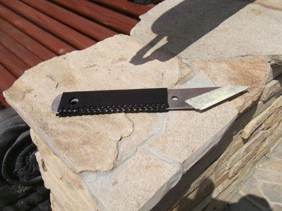 Делаем новую обмотку рукояти для старого ножа - 33