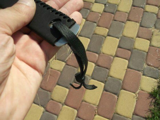 Делаем новую обмотку рукояти для старого ножа - 38
