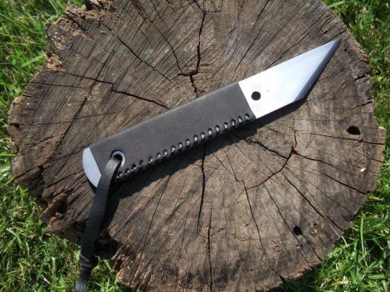 Делаем новую обмотку рукояти для старого ножа - 39