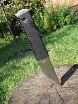 Делаем новую обмотку рукояти для старого ножа - 40