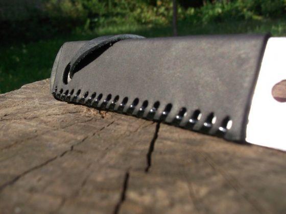 Делаем новую обмотку рукояти для старого ножа - 41