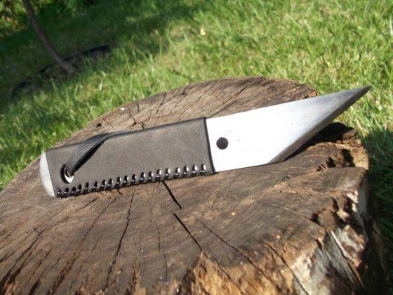 Делаем новую обмотку рукояти для старого ножа - 42