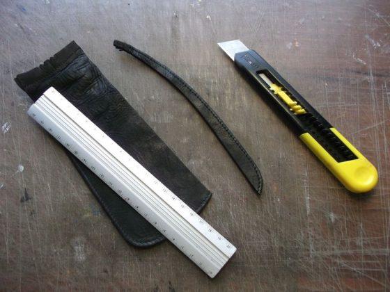 Делаем новую обмотку рукояти для старого ножа - 6