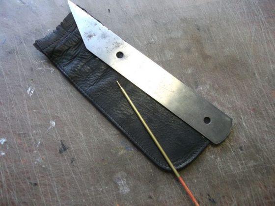 Делаем новую обмотку рукояти для старого ножа - 7