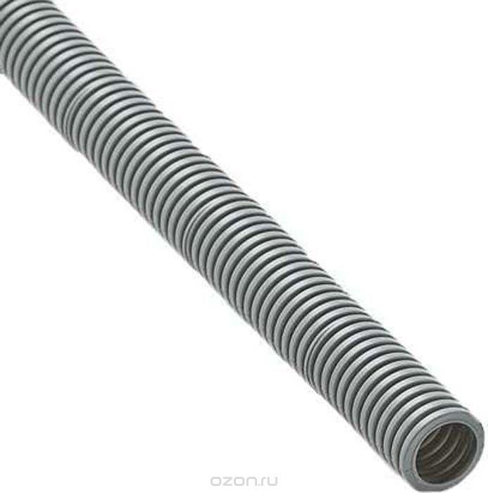 """Труба гофрированная """"Ruvinil"""", ПВХ d 25 мм, с зондом, цвет: серый (50 м). 12501"""