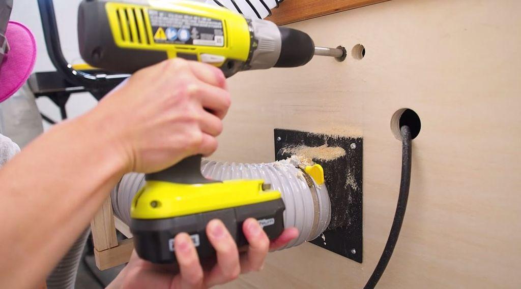Как сделать пылесборник для фрезерного стола своими руками | 10