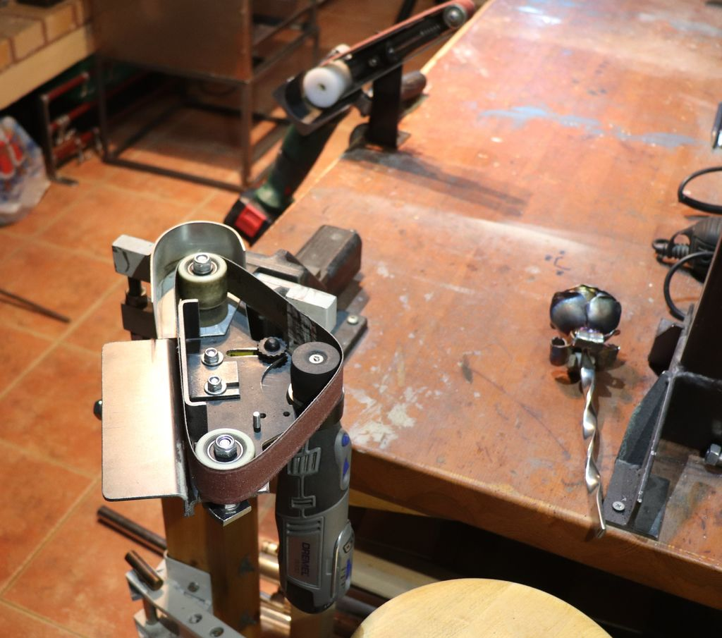 Как сделать блочную систему для ленточной шлифовальной машины - 12