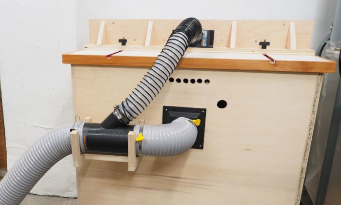 Как сделать пылесборник для фрезерного стола своими руками | 4