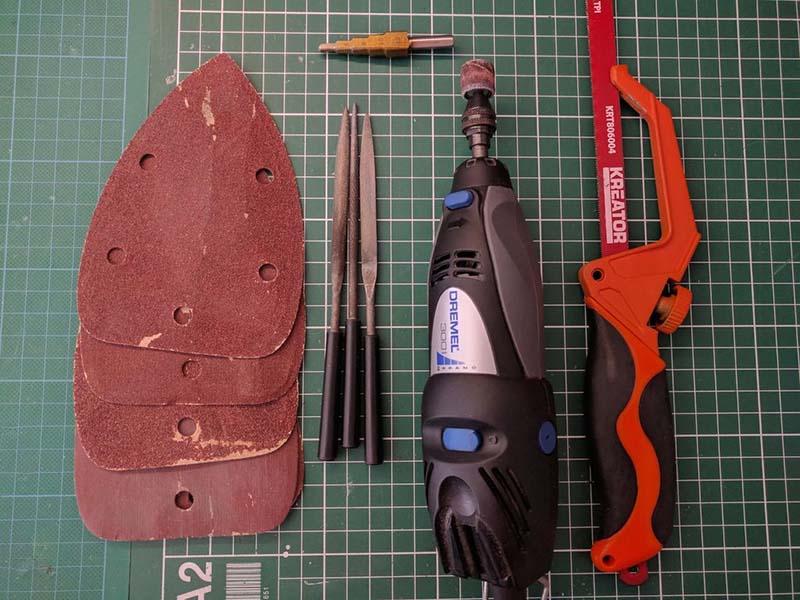 Материалы и инструмент для гаечных ключей