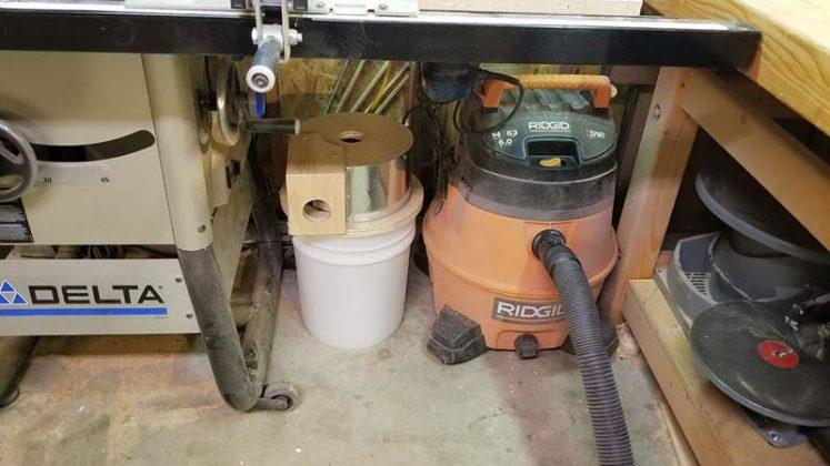 Компактный пылесборник в мастерскую своими руками | 2