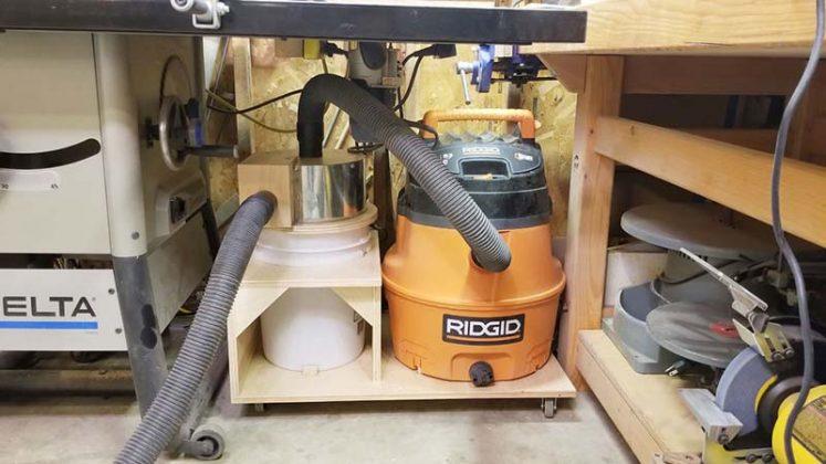 Компактный пылесборник в мастерскую своими руками | 3
