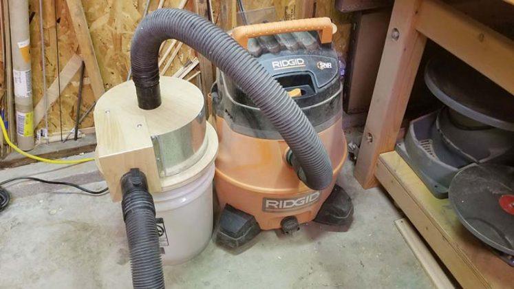 Компактный пылесборник в мастерскую своими руками - 54