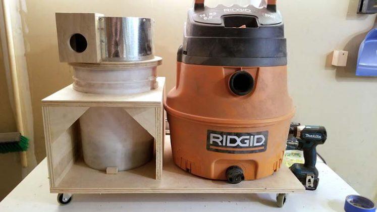Компактный пылесборник в мастерскую своими руками - 73