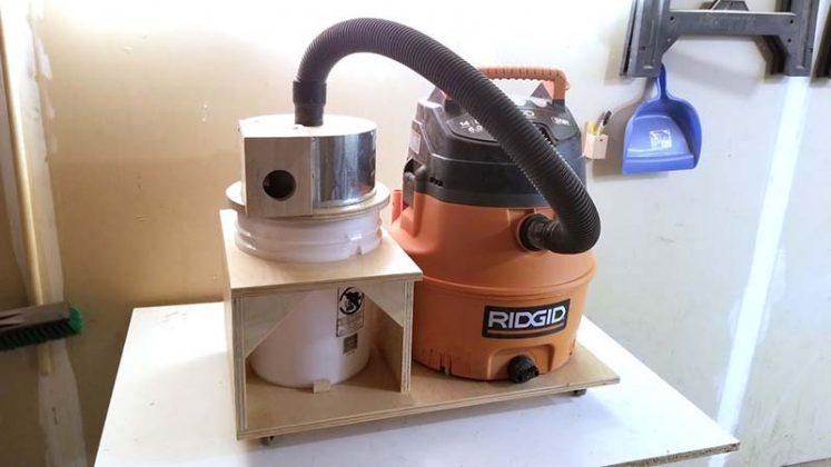 Компактный пылесборник в мастерскую своими руками - 76