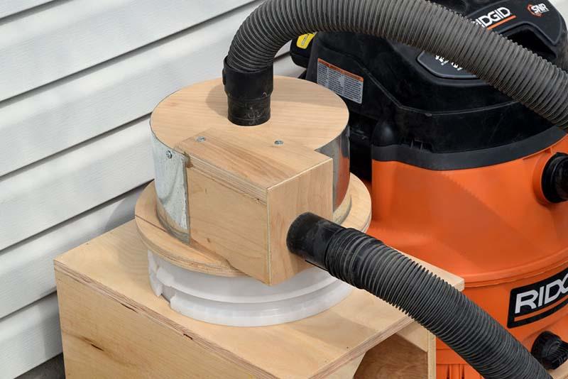 Компактный пылесборник в мастерскую своими руками | 78