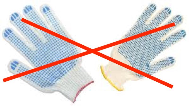 Пальчиковые перчатки нельзя использовать при сварке