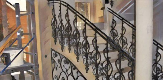 Кованные лестничные ограждения