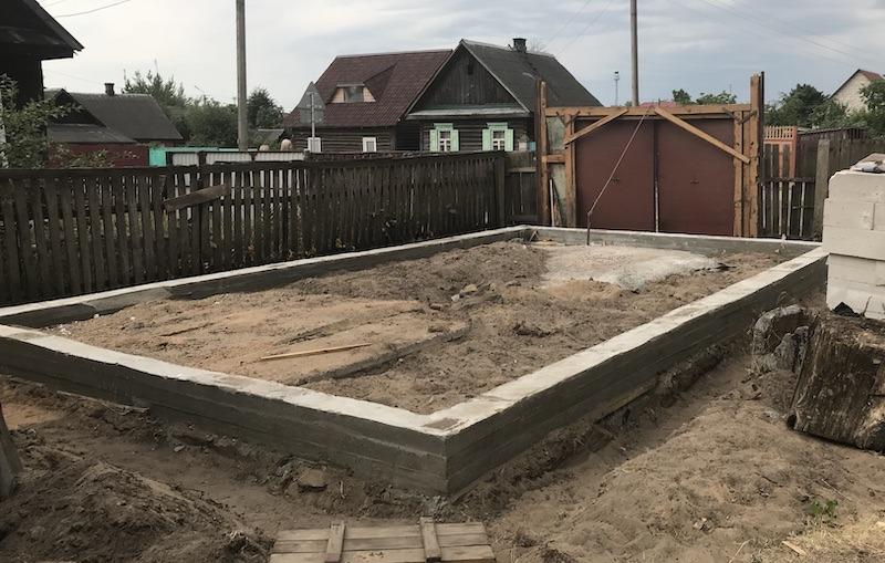 Фундамент под гараж 8 х 4 м