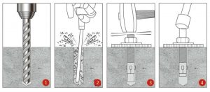 Как установить анкерный болт в бетон | 3